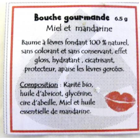 "Baume à lèvres ""bouche gourmande"" Mandarine"