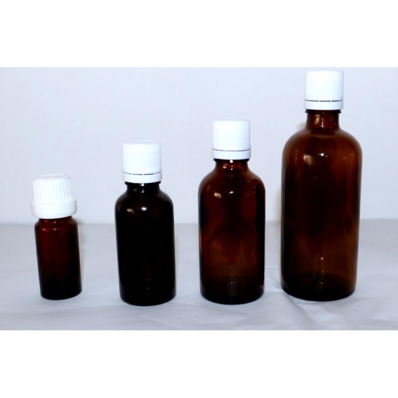 Lege bruin flesje met druppelaar