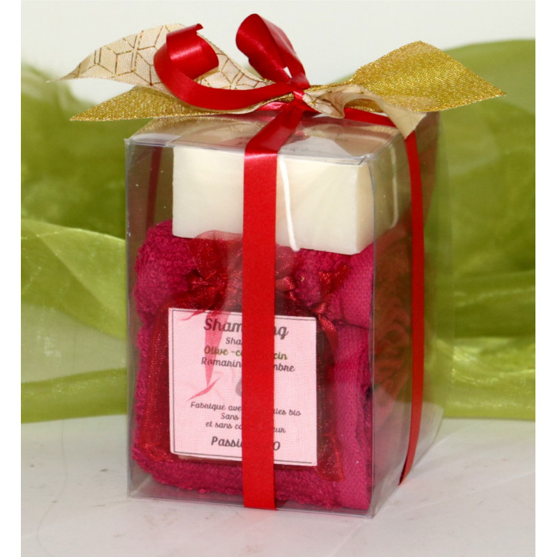 Transparent box towel and soap