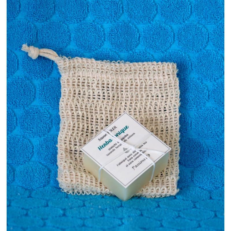 sac en fibre naturelle pour savon