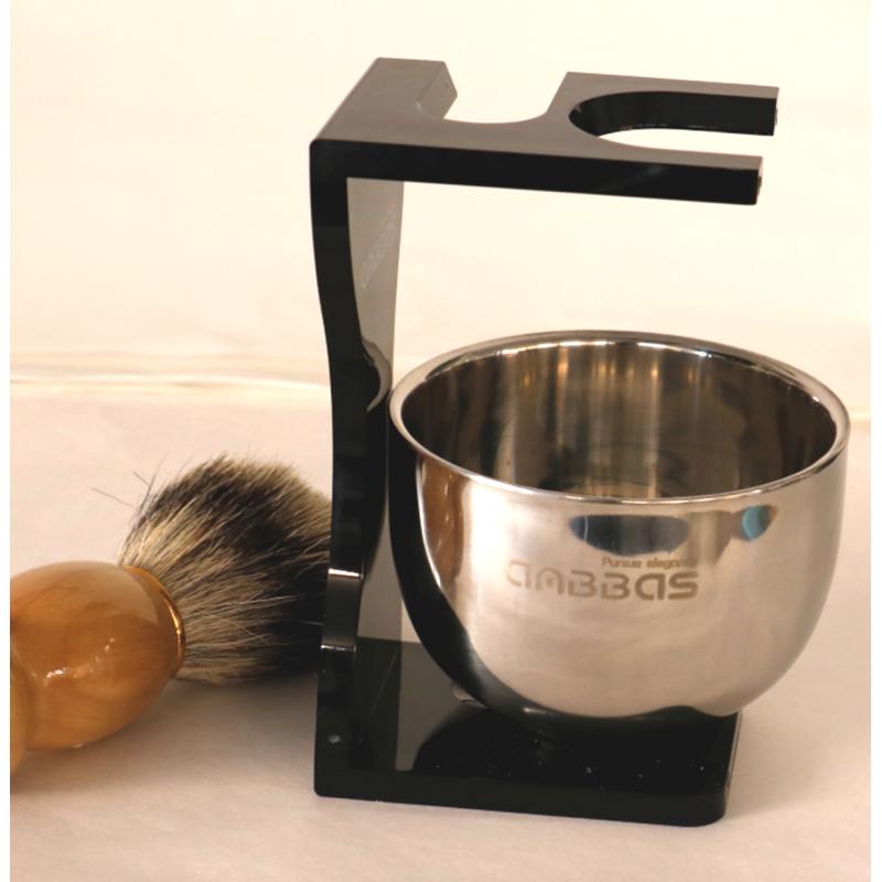 Shaving bowl with holder