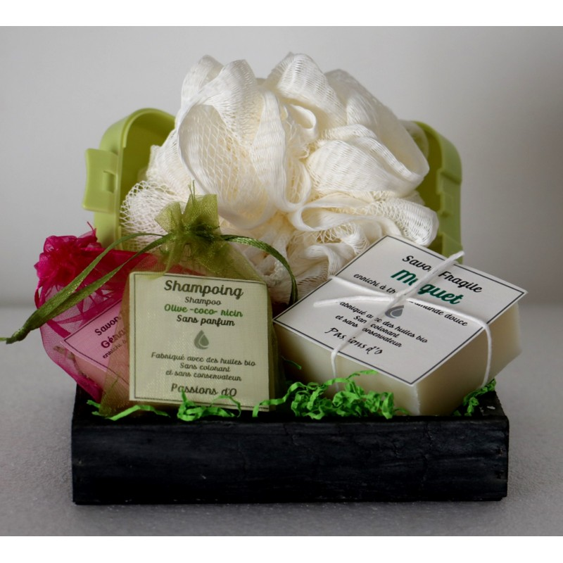 Natural gift on wooden tray