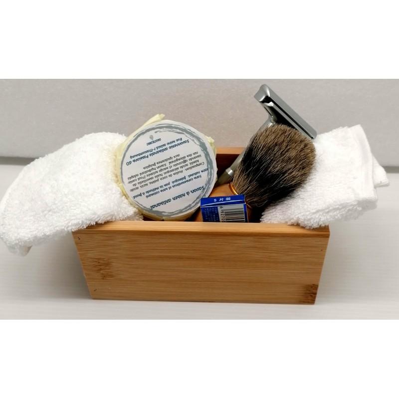 Bamboo shaving box 15cm
